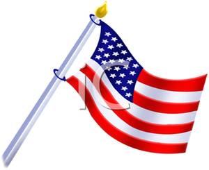 Us flag pole clipart clip art stock American Flag on a Flagpole Clipart Picture clip art stock