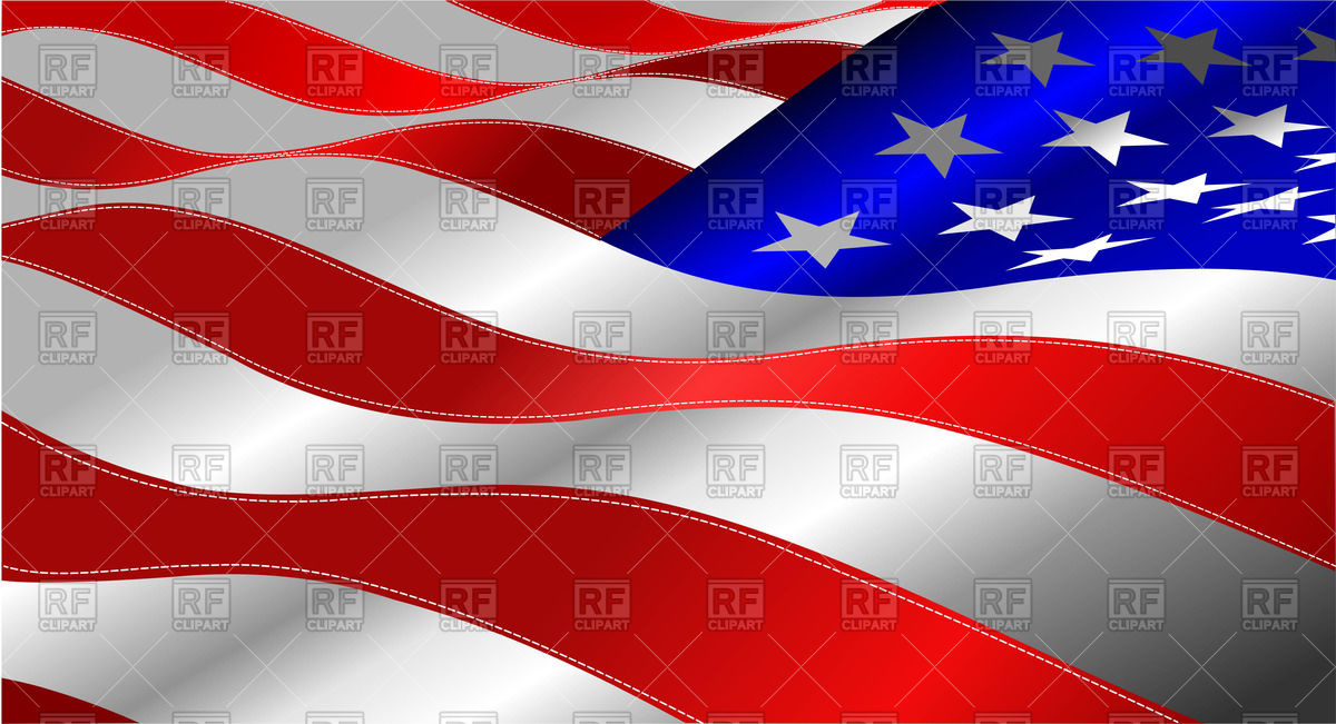 Us flag stripes clipart clip royalty free stock Waving American Stars and Stripes - usa flag Vector Image #51971 ... clip royalty free stock