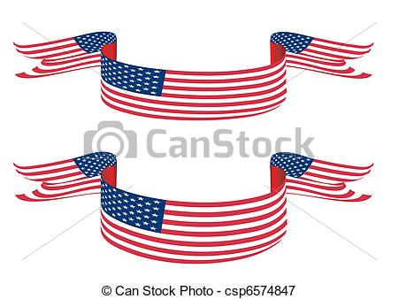Us flag stripes clipart picture free stock Stock Illustrations of USA flag like banner with stars and stripes ... picture free stock