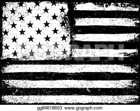 Us flag stripes clipart picture black and white download Vector Art - Stars and stripes. monochrome negative photocopy ... picture black and white download