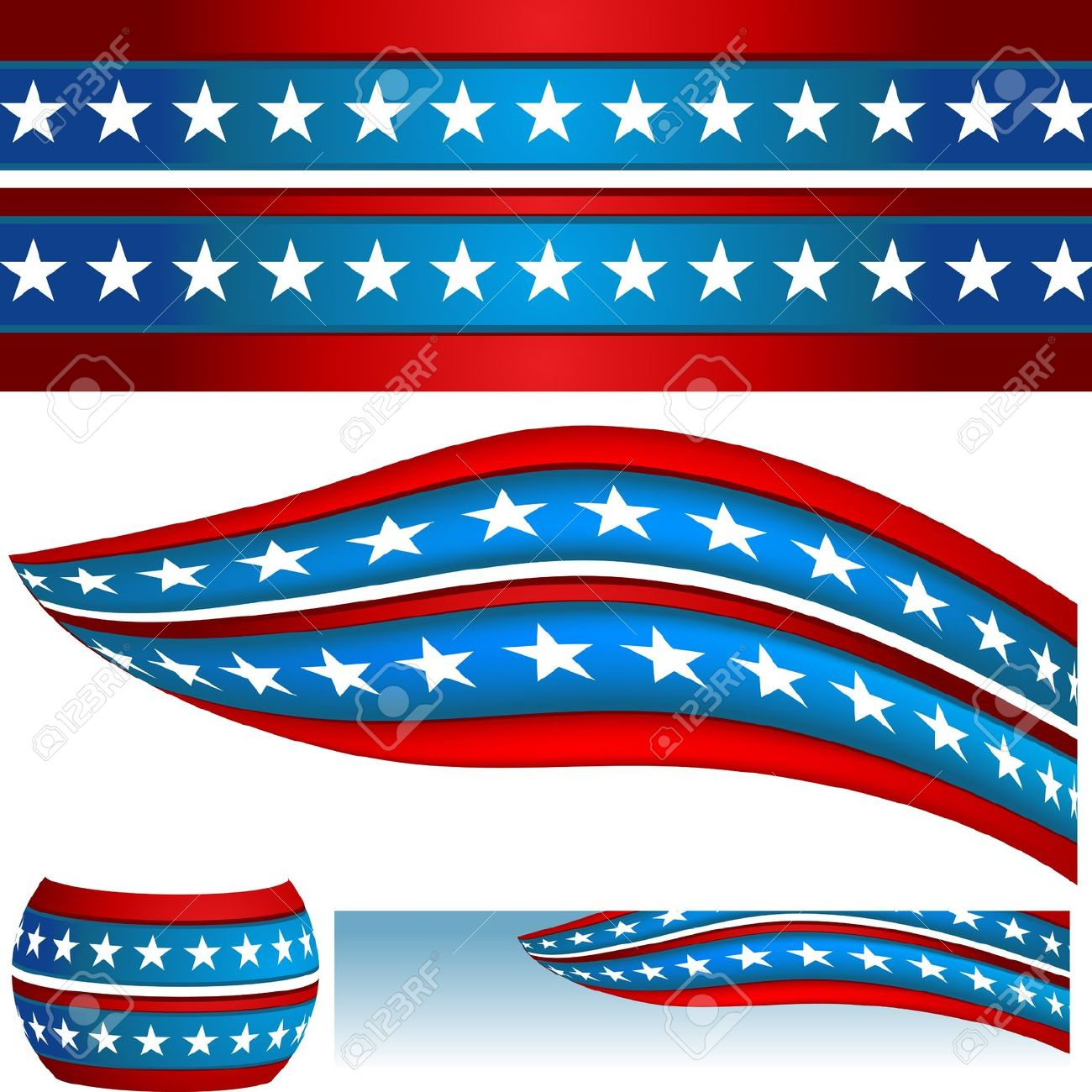 Us flag stripes clipart clip free download Abstract american star and flag clipart - ClipartFest clip free download
