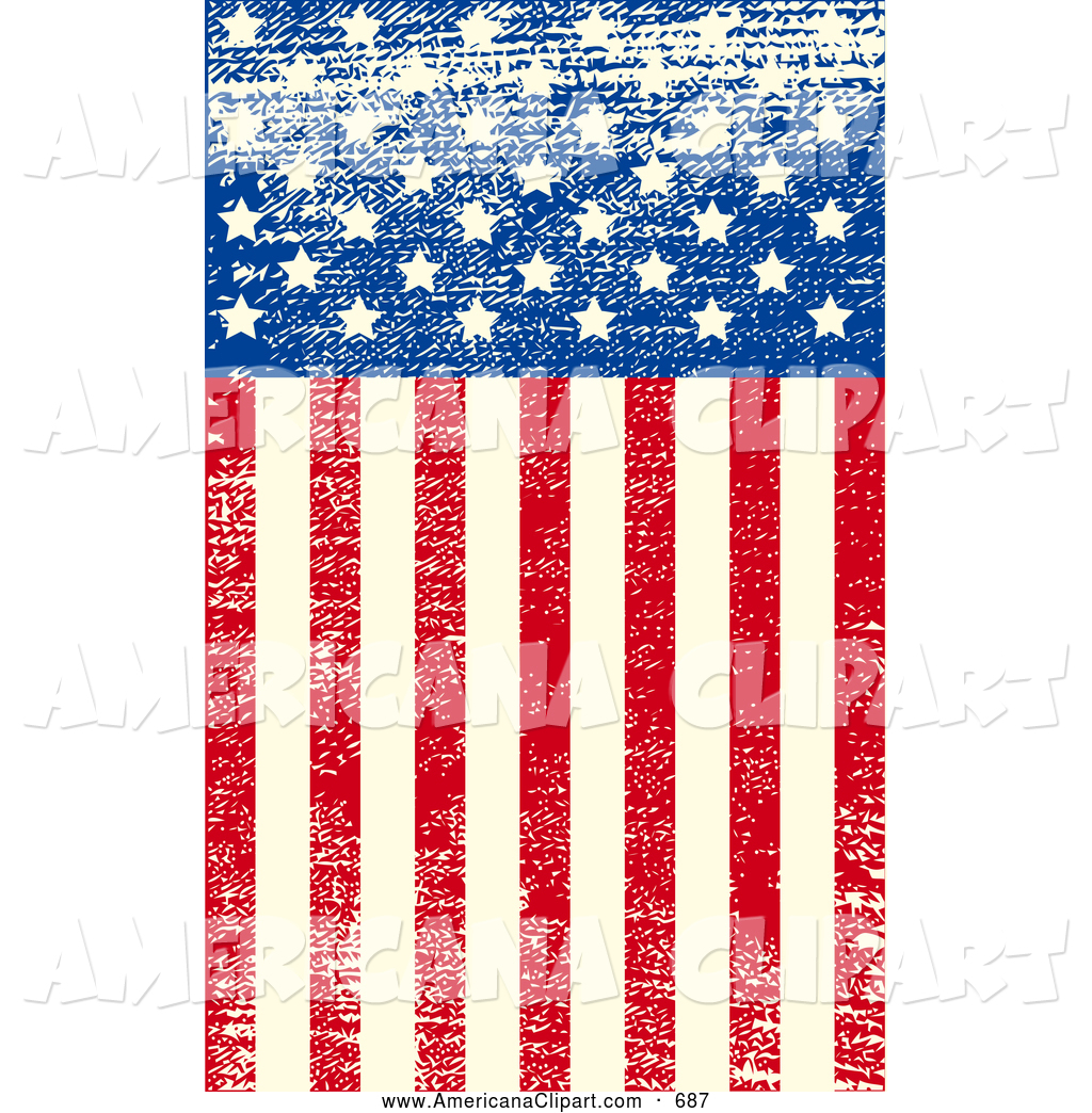 Us flag stripes clipart jpg library library Americana Vector Clip Art of a Grungy American Flag with ... jpg library library