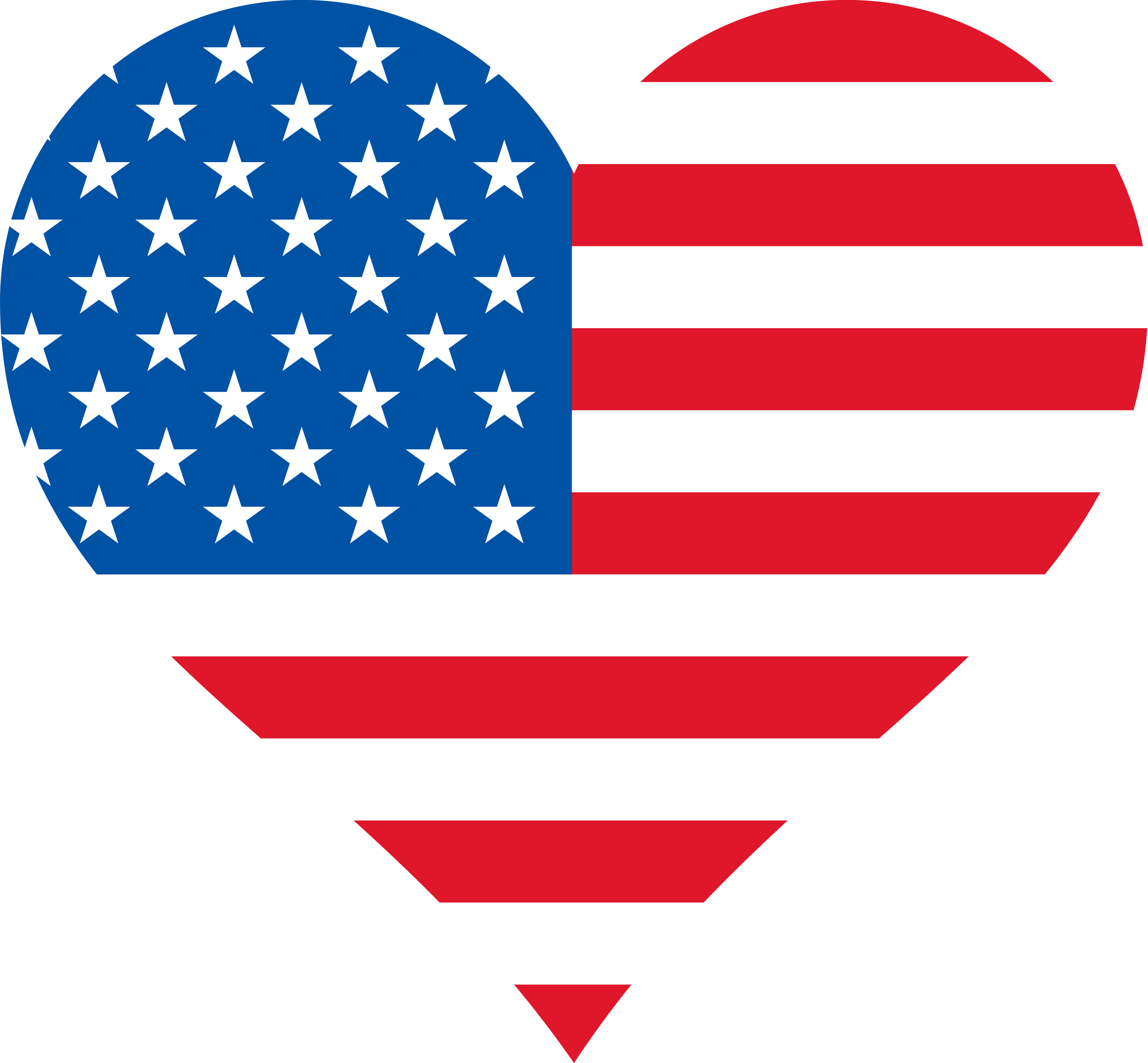 Stars and stripes heart. Clipart of us flag