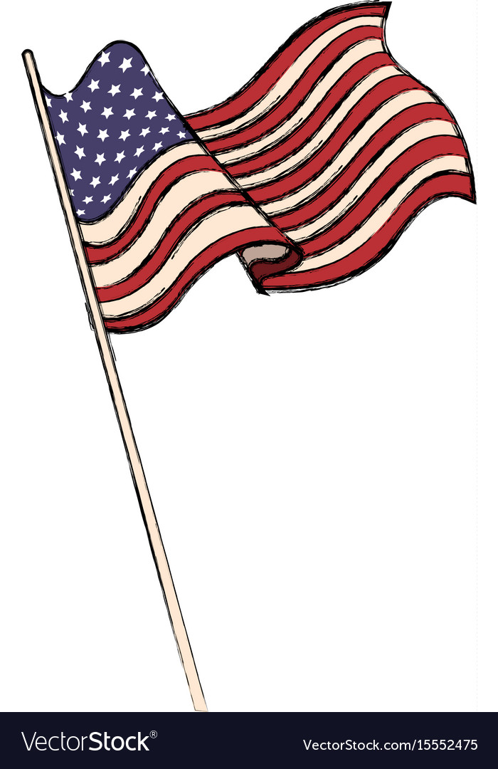 Us flag waving clipart clip art United states of american flag waving emblem clip art