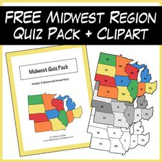 Us geography clip art picture transparent FREE US REGIONS Clipart by The 3AM Teacher!! | The 3AM Teacher ... picture transparent