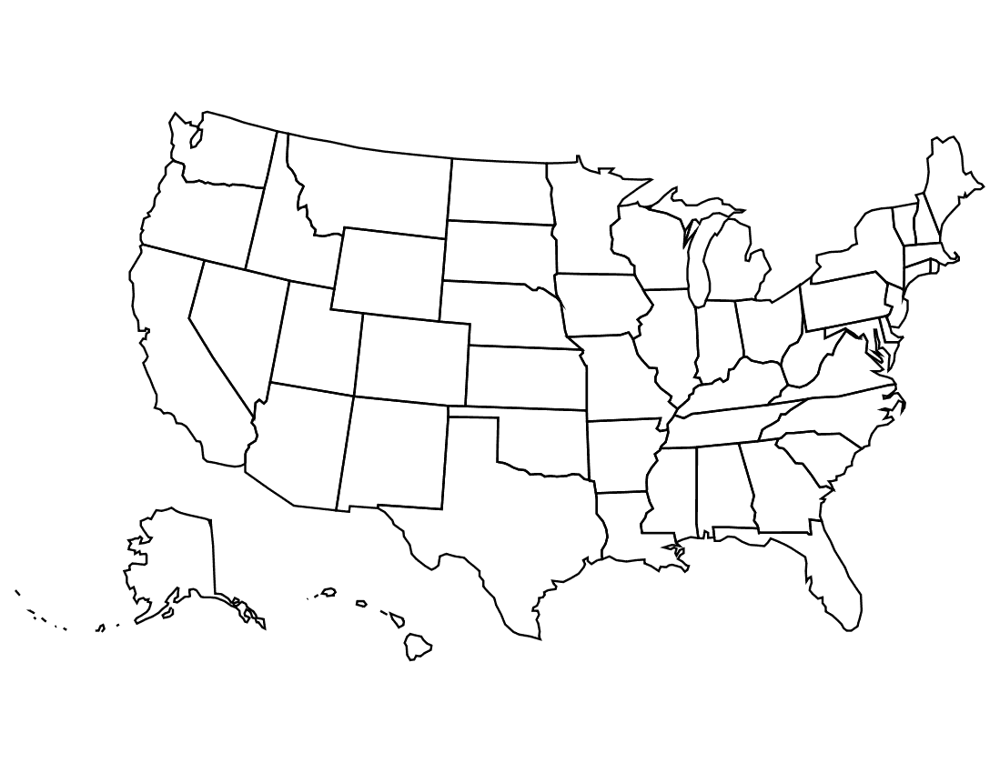 Us geography clip art png library Individual United States Clipart - Clipart Kid png library