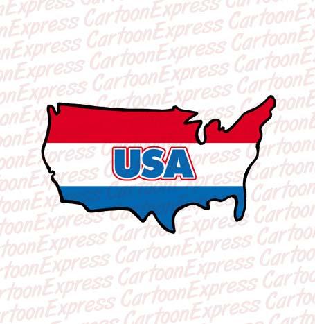 Us map cartoon clipart png transparent stock Us map cartoon clipart - ClipartFest png transparent stock