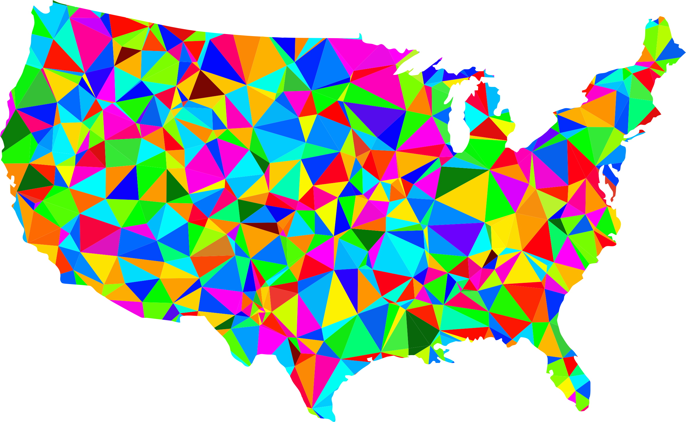 Us map clip art image stock Flat Shaded Low Poly America USA Map Icons PNG - Free PNG and Icons ... image stock
