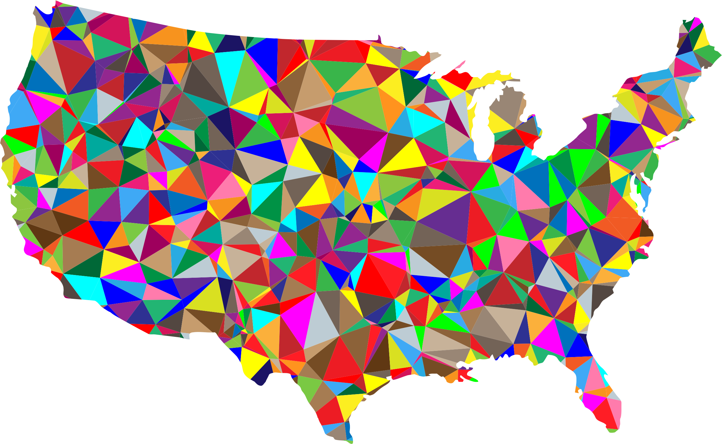 Us map clip art image download Flat Color Low Poly America USA Map Icons PNG - Free PNG and Icons ... image download