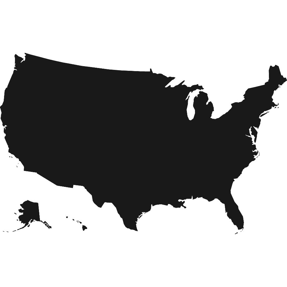 Us map clipart black jpg free Usa map clipart black and white - ClipartFox jpg free