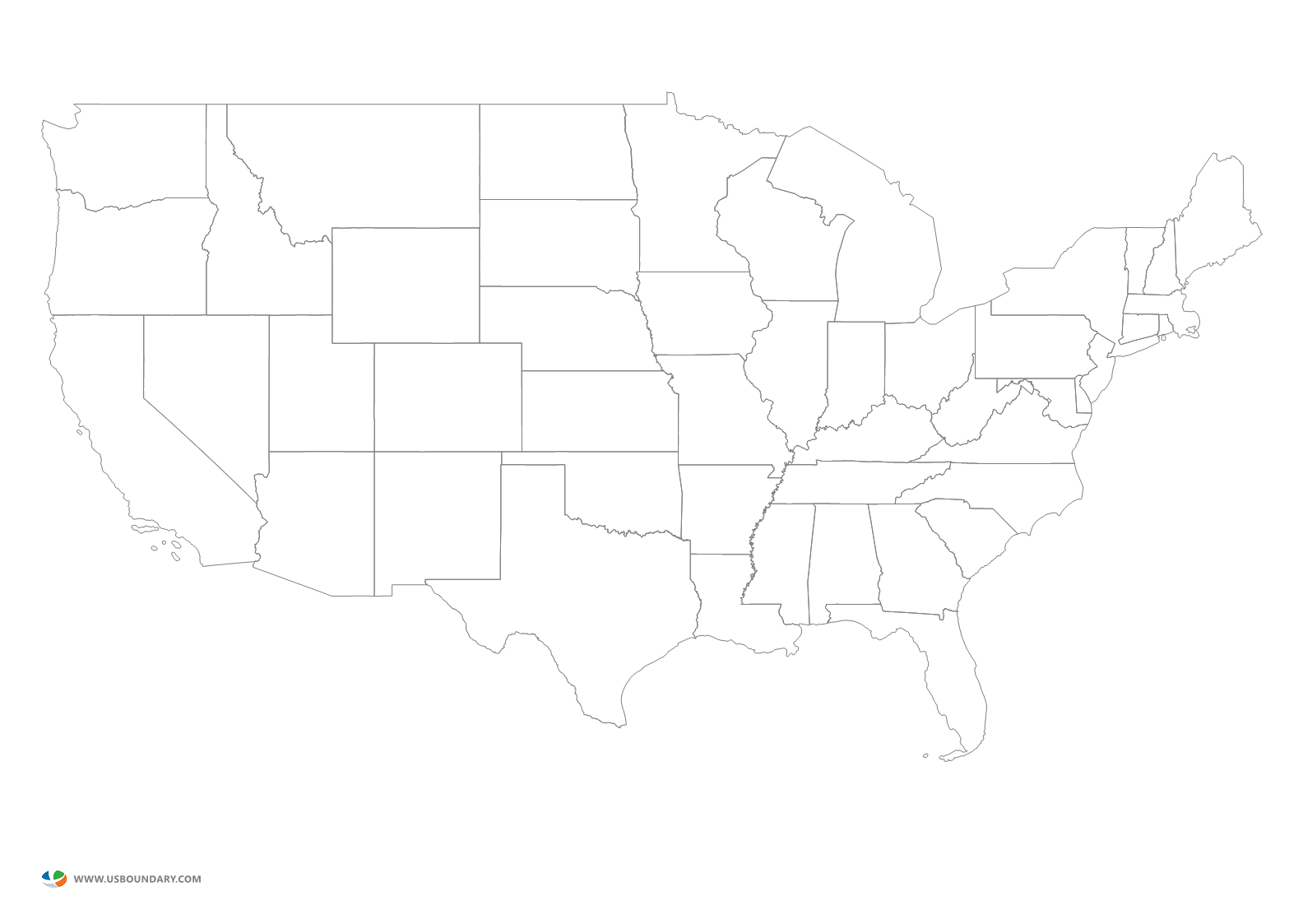 Us map clipart black and white clip art freeuse download Us Map Outline Transparent | Cdoovision.com clip art freeuse download