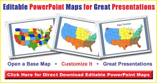 Us map clipart powerpoint clip freeuse Editable Usa Map Clipart - Clipart Kid clip freeuse