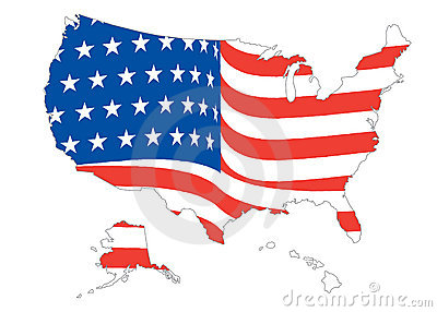 Us map flag clipart banner freeuse library US Flag Map Royalty Free Stock Photos - Image: 6755648 banner freeuse library