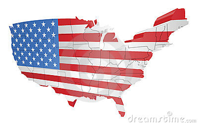 Us map flag clipart clip transparent library USA Map Flag Royalty Free Stock Photography - Image: 36844107 clip transparent library