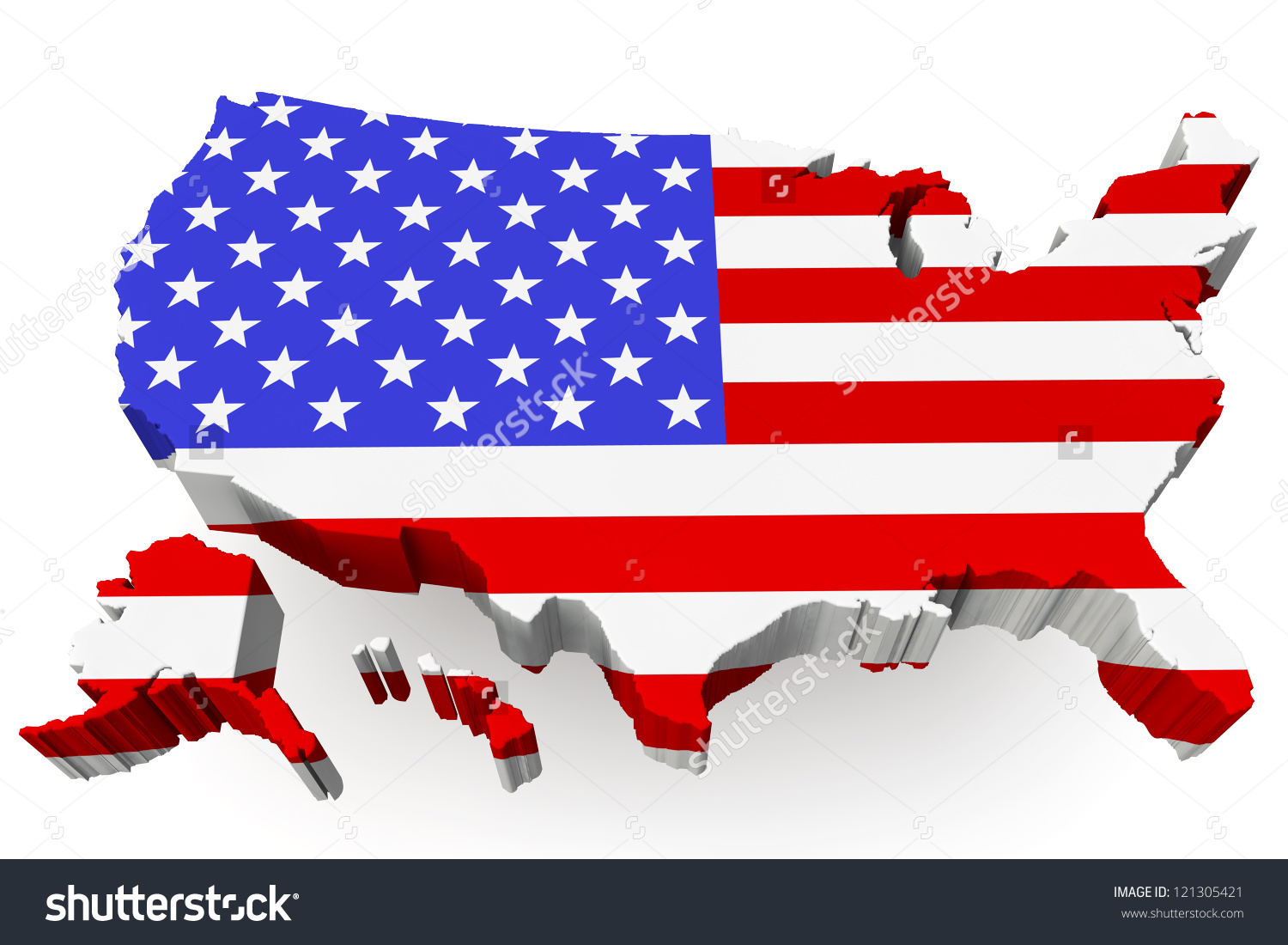 Us map flag clipart clip art black and white Usa Map Usa Flag On White Stock Illustration 121305421 - Shutterstock clip art black and white