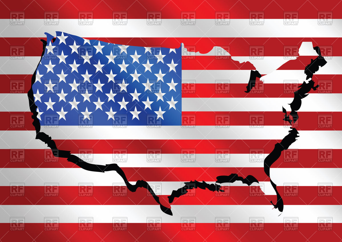 Us map flag clipart library USA map and flag background Vector Image #69419 – RFclipart library