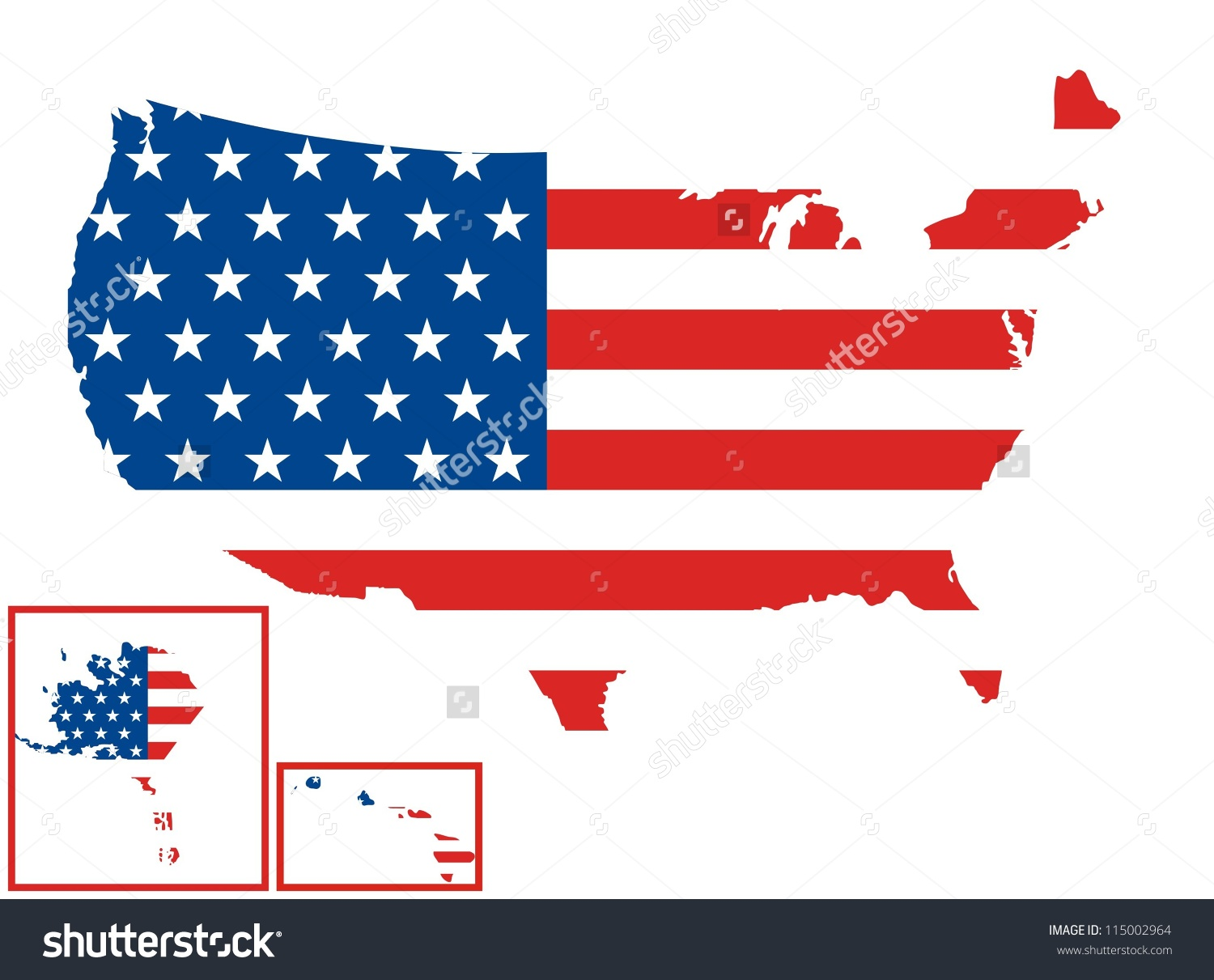 Us map flag clipart image black and white stock Usa Map United States Flag Stock Illustration 115002964 - Shutterstock image black and white stock