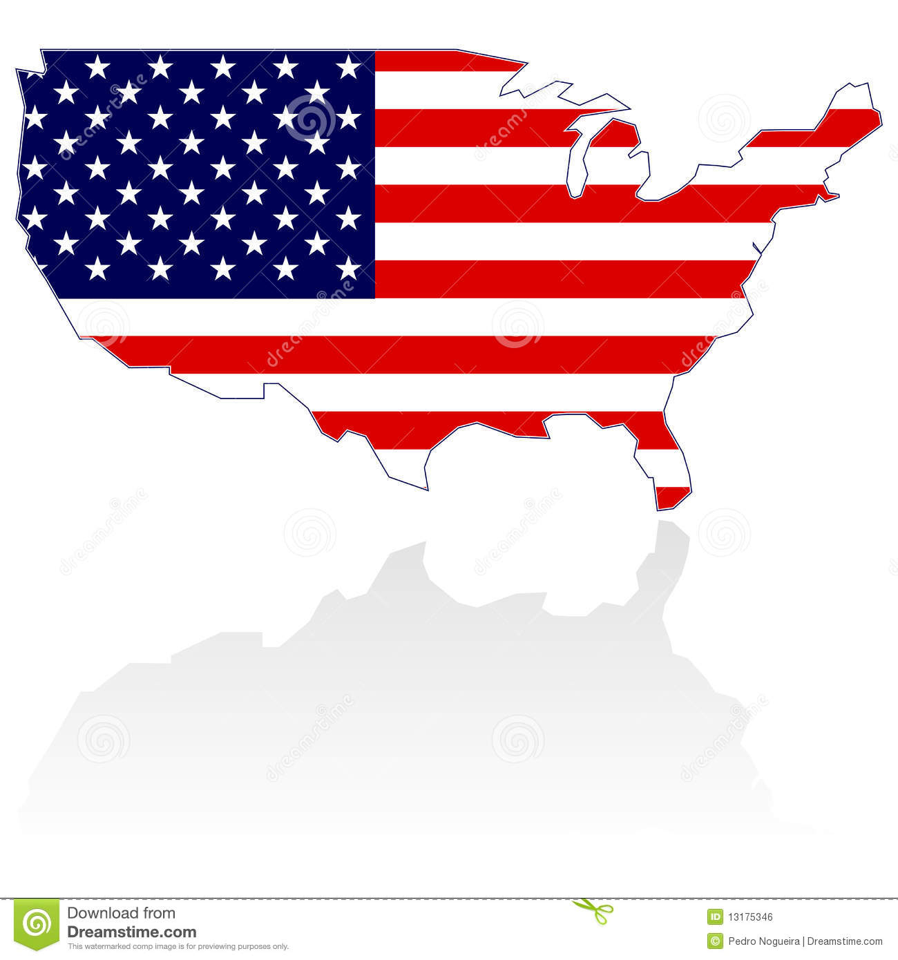 Us map flag clipart vector black and white library United States Map And Flag Royalty Free Stock Image - Image: 13175346 vector black and white library