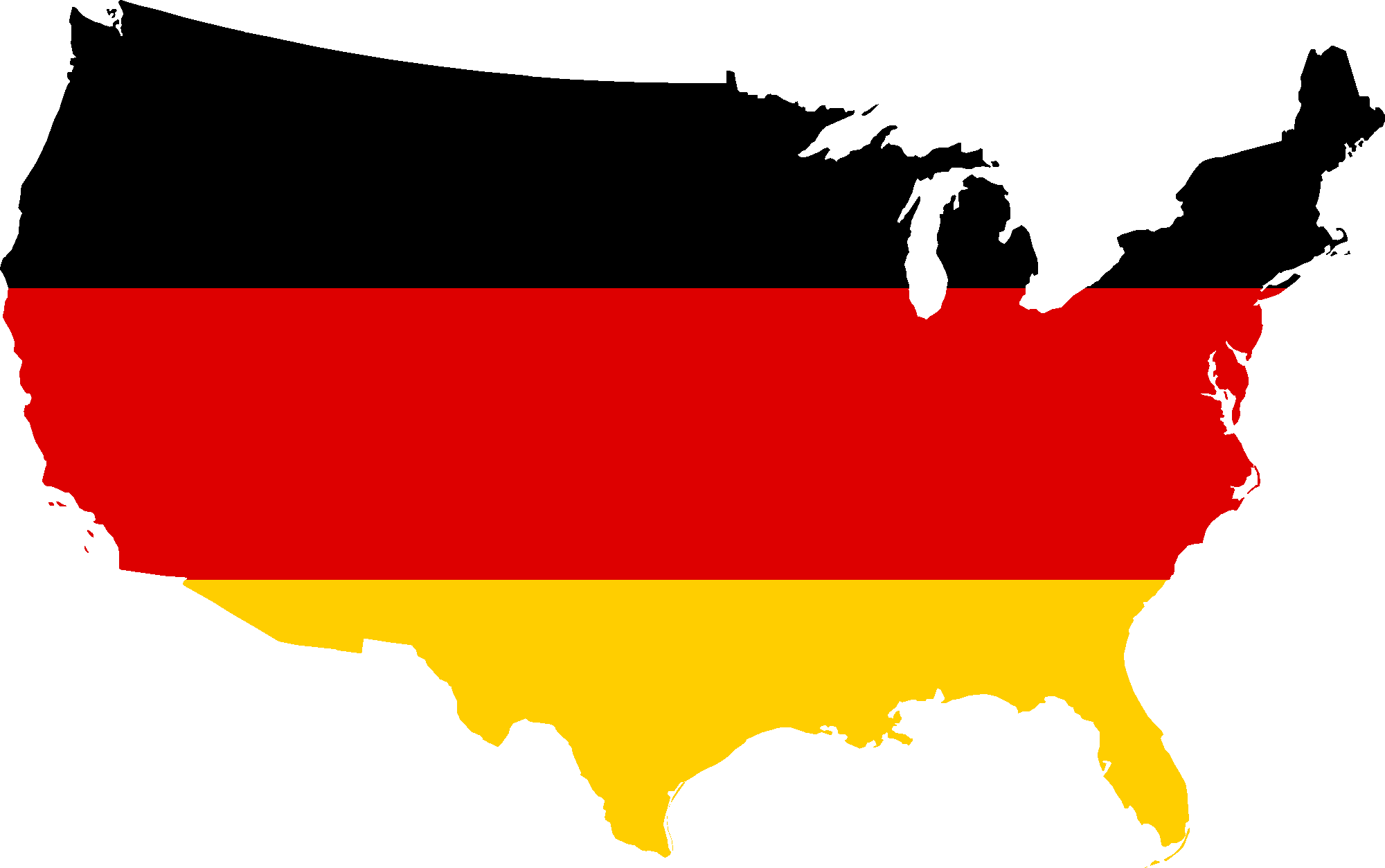 Us map flag clipart transparent Germany Map Flag - ClipArt Best transparent