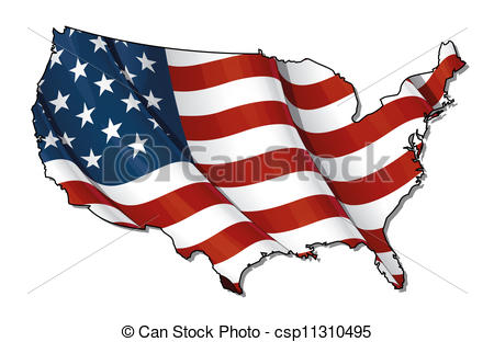 Us map flag clipart image free library Usa map flag us map flag american flag map usa flag map ... image free library