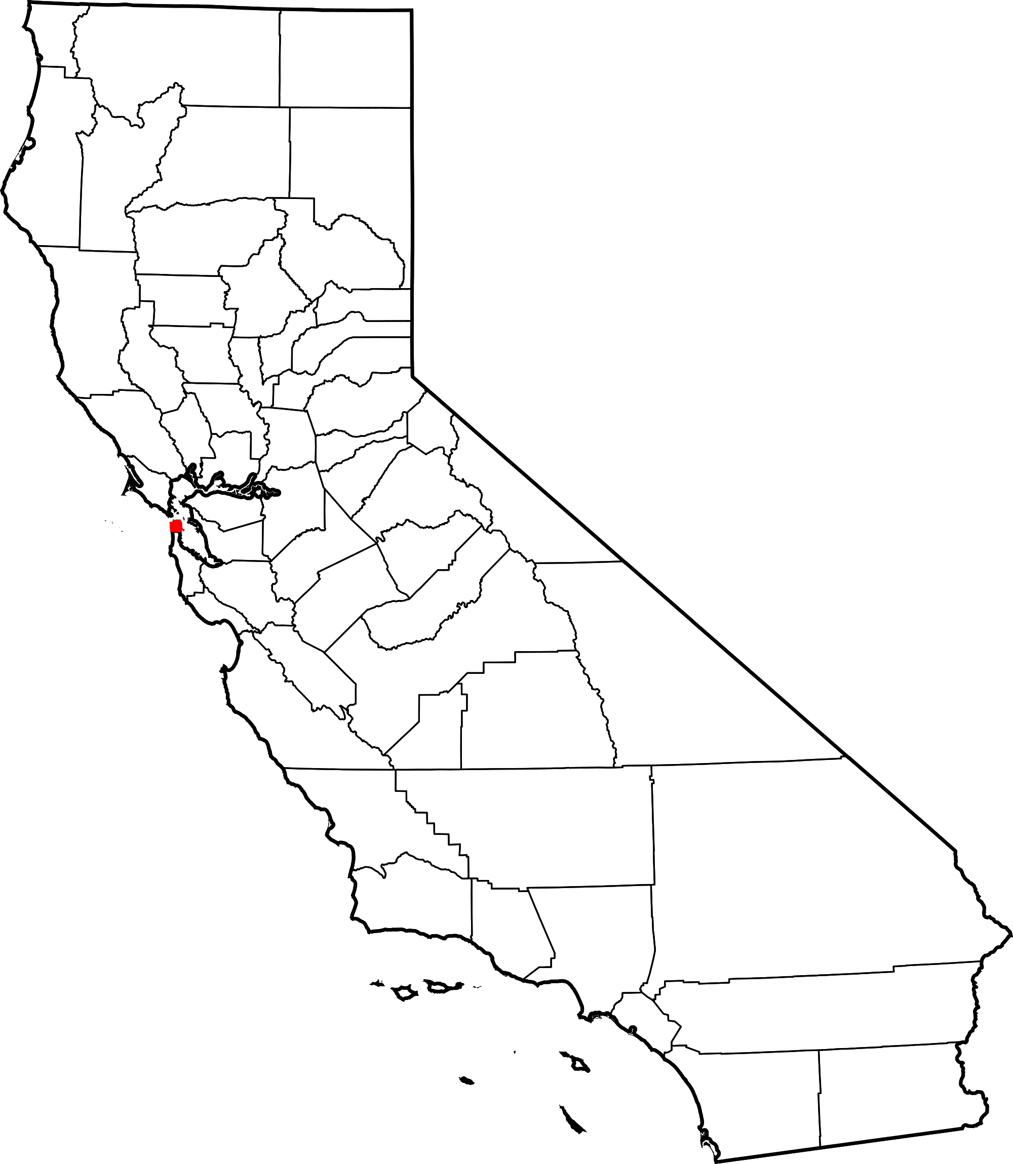 Us map highlighting california clipart clip art black and white download California Map Drawing at GetDrawings.com | Free for personal use ... clip art black and white download