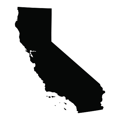 Us map highlighting california clipart graphic royalty free stock Us map showing california clipart - ClipartFest graphic royalty free stock