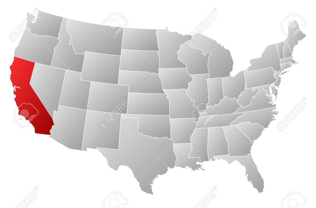 Us map highlighting california clipart jpg free library Us map highlighting california clipart - ClipartFox jpg free library