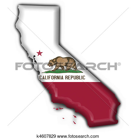 Us map highlighting california clipart black and white download Us map of california state clipart - ClipartFest black and white download