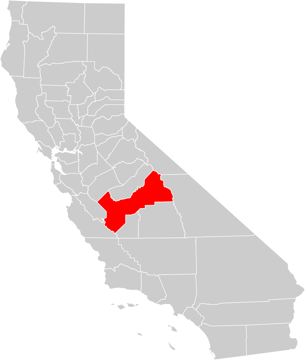 Us map highlighting california clipart png free library File:California county map (Fresno County highlighted).svg ... png free library