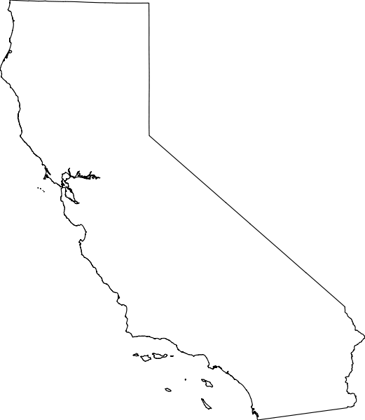 Us map highlighting california clipart jpg File:Map of California outline.svg - Wikimedia Commons jpg