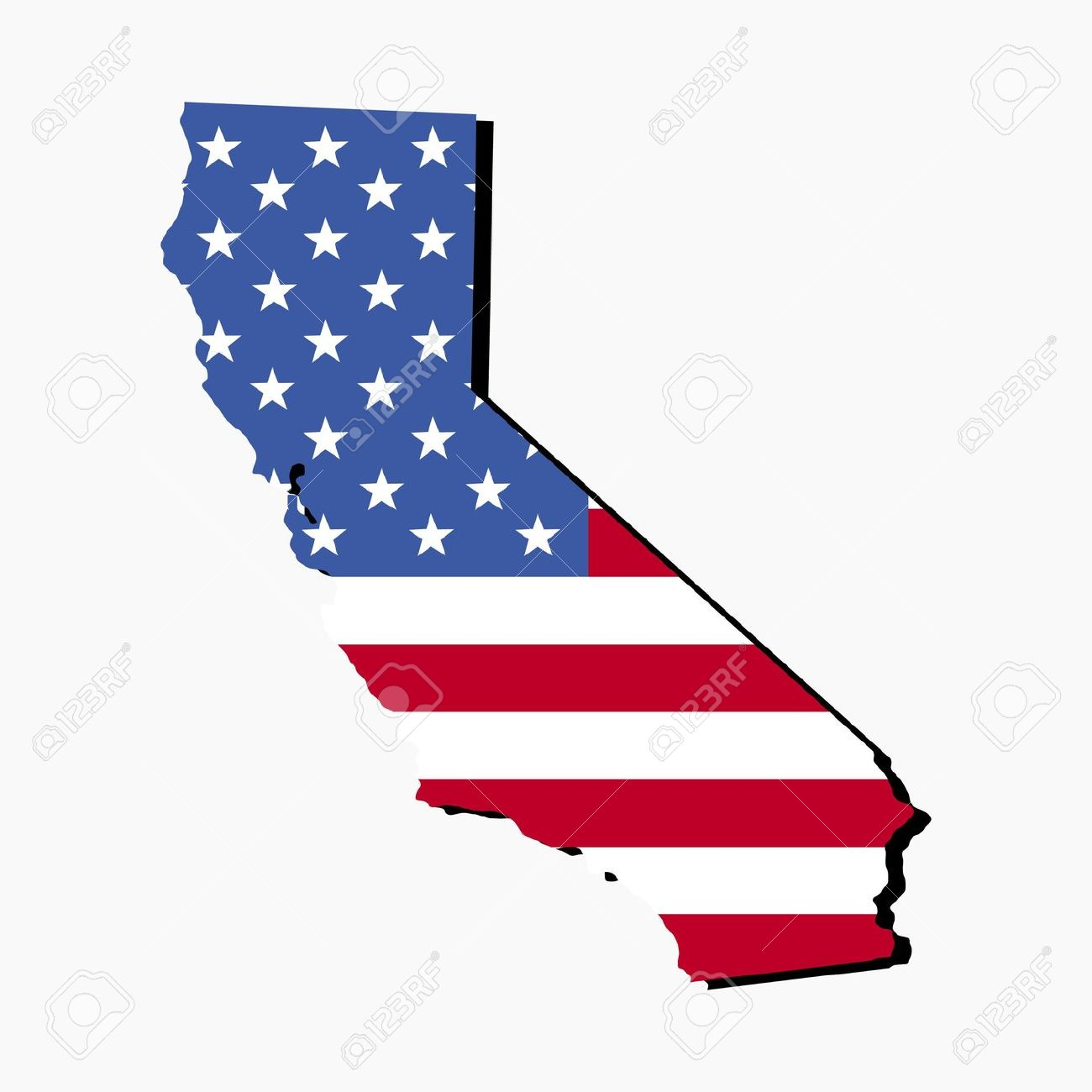 Us map of california state clipart banner black and white download California on a us map clipart - ClipartFest banner black and white download