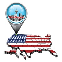 Us map pointing to california clipart banner royalty free Map Maps Place Places America American State Geography United ... banner royalty free