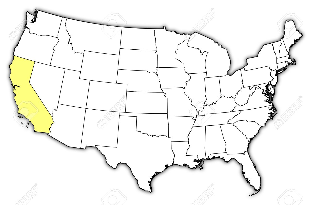 Us map showing california clipart picture royalty free Us map highlighting california clipart - ClipartFest picture royalty free