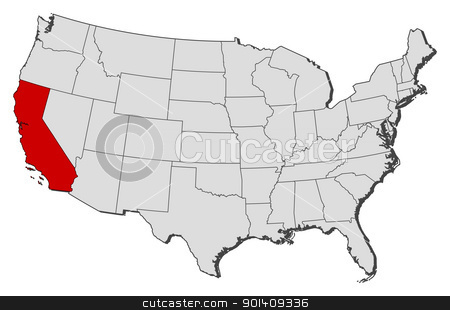 Us map showing california clipart svg library Us map highlighting california clipart - ClipartFox svg library