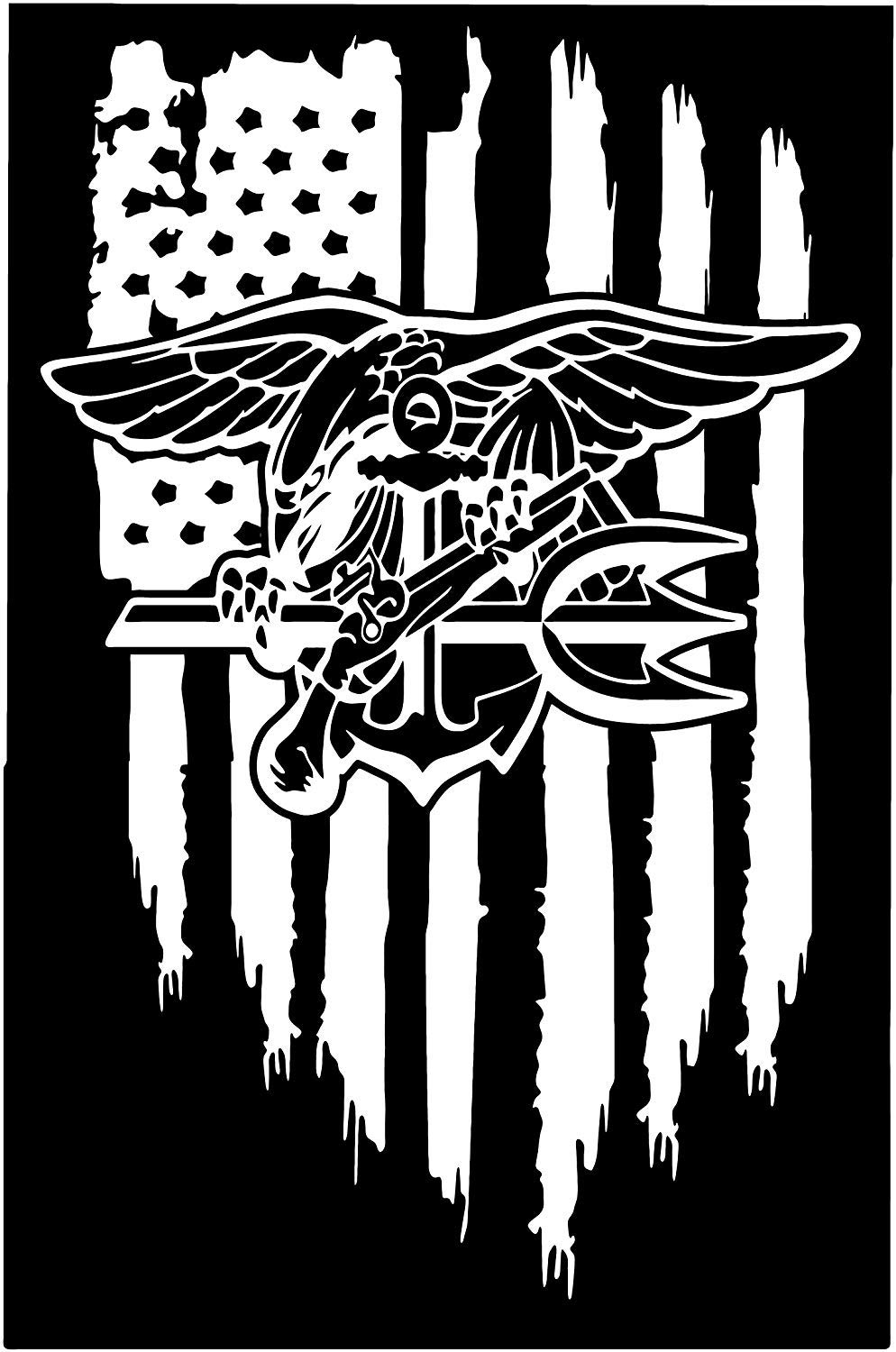 Library of us navy flag black and white vector stock png files Clipart Art 2019