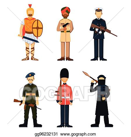 Us navy soldier real clipart jpg royalty free download Vector Stock - Military soldier character weapon symbols ... jpg royalty free download