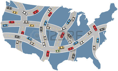 Us road map clipart vector free stock 492 Us Road Map Cliparts, Stock Vector And Royalty Free Us Road ... vector free stock