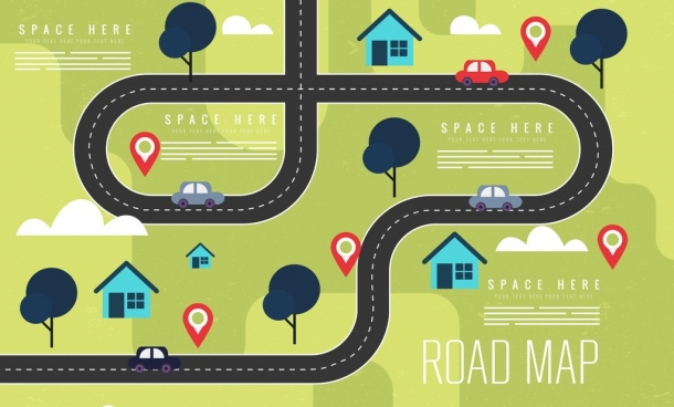 Us road map clipart free free stock Cartoon road map free vector download (20,795 Free vector ... free stock