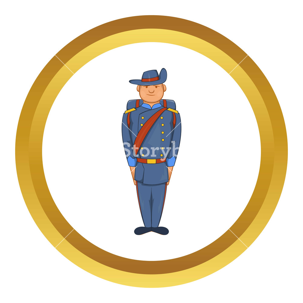 Us soldier 1800s cartoon clipart svg transparent Man in a blue army uniform 19th century vector icon in ... svg transparent