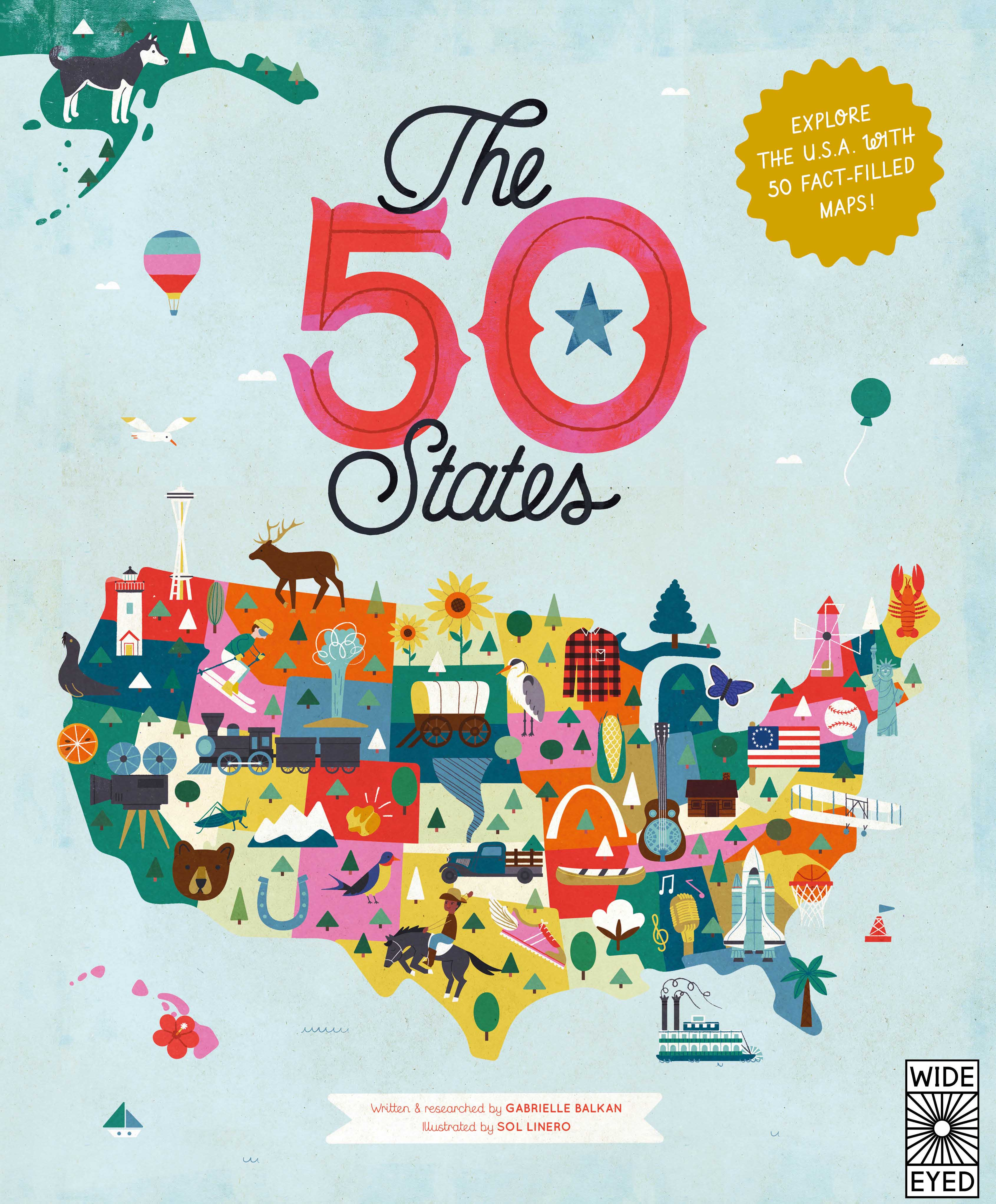 Us states clipart filled with books graphic free stock The 50 States by Gabrielle Balkan graphic free stock