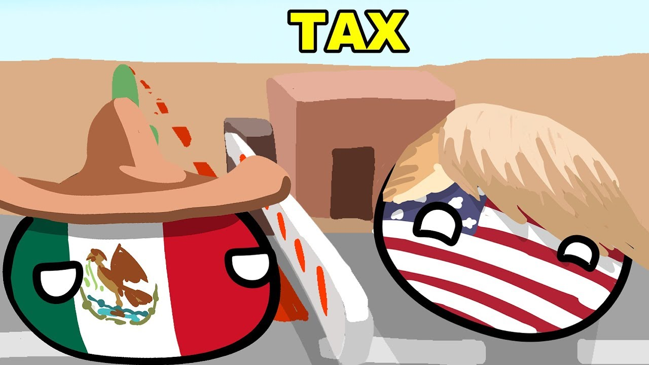 Usa and mexico border clipart jpg free stock USA tax Mexico border - Countryballs jpg free stock