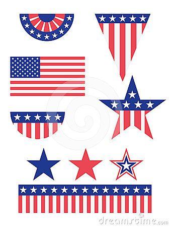 Usa flag decoration clipart vector library stock American Flag Decorations ♥   American table decorations ... vector library stock