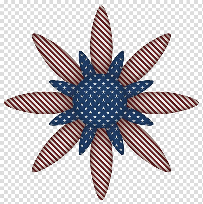 Usa flag decoration clipart transparent download Blue and white flowers illustraiton, Flower Independence Day ... transparent download