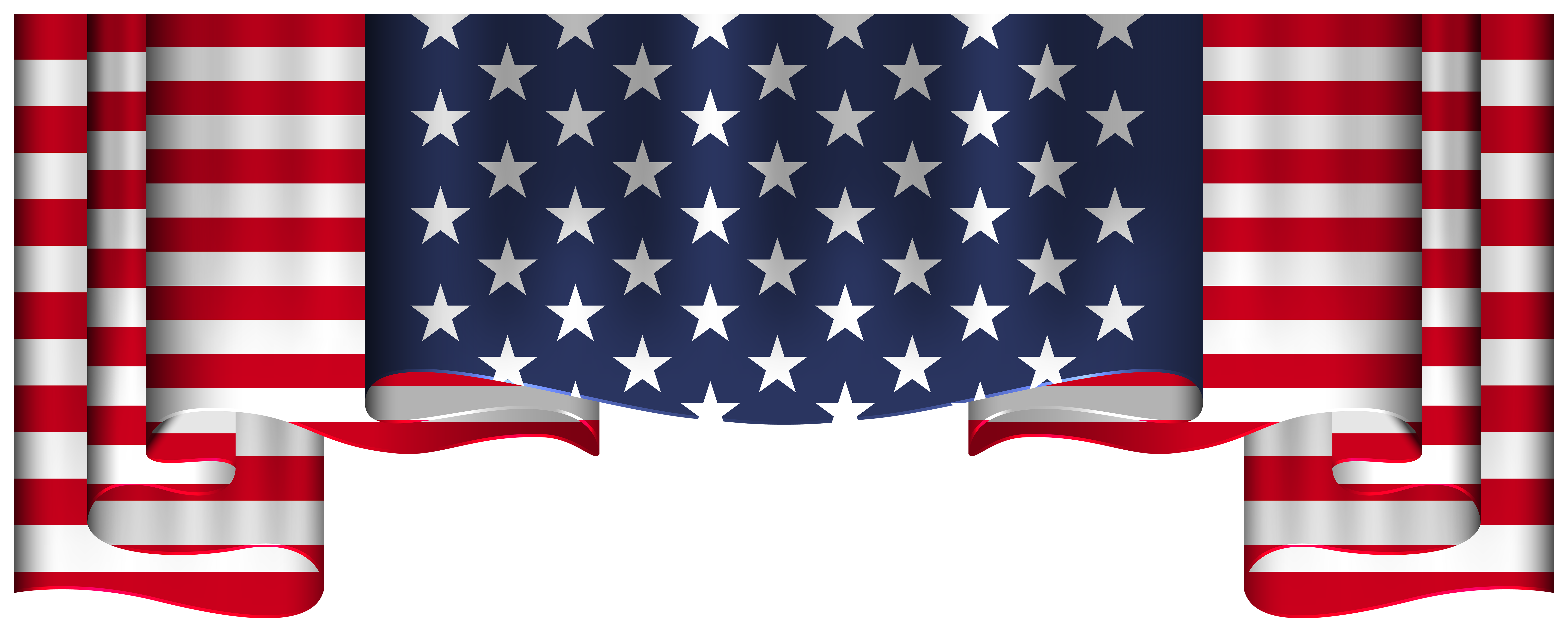 Usa flag decoration clipart jpg free library USA Flag Decoration PNG Clipart   Gallery Yopriceville ... jpg free library