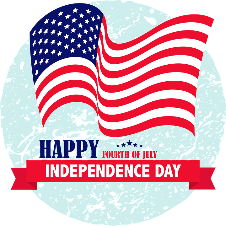 Happy independence day free clipart svg transparent download Happy 4th of July 2019: Cliparts, American Flags for USA ... svg transparent download