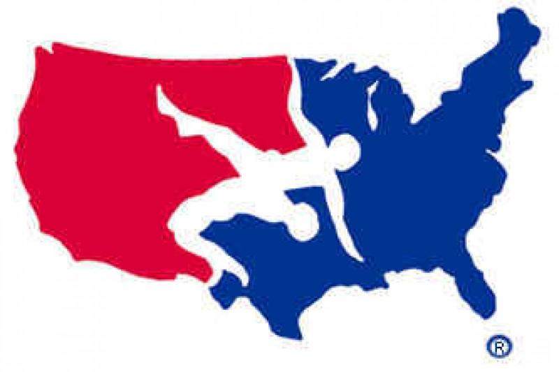 Usa wrestling clipart jpg black and white download Download usa wrestling logo decal clipart USA Wrestling ... jpg black and white download