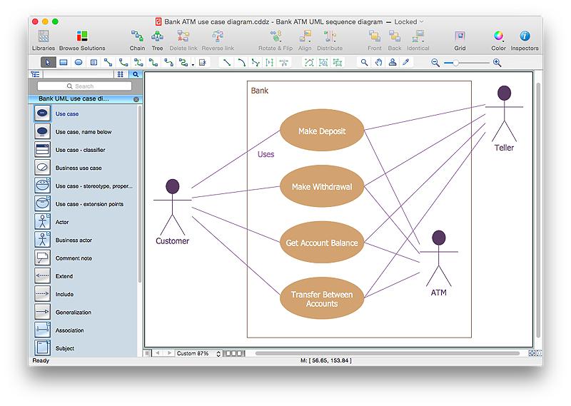 Use case actor clipart jpg stock UML use case diagram - Banking system | UML Use Case Diagram ... jpg stock