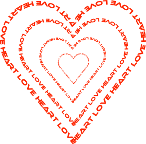 Use kind words clipart svg royalty free stock A Heart Done By Words Outline Clip Art at Clker.com - vector clip ... svg royalty free stock