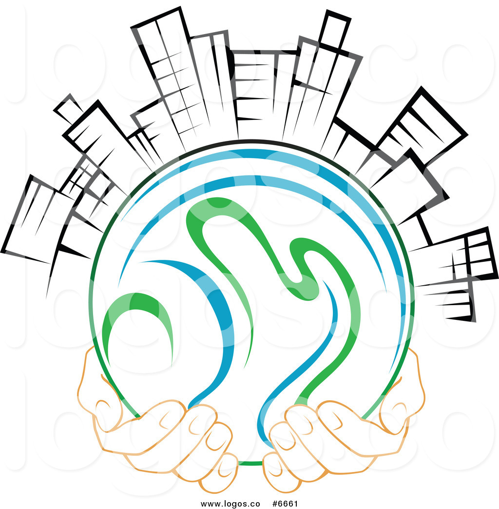 Using clipart for business logo png freeuse Royalty Free Clip Art Vector Logo of Hands Holding a Globe ... png freeuse