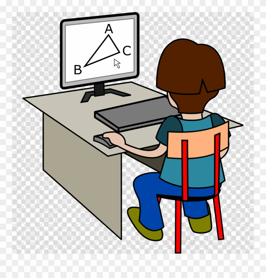 Using the computer clipart svg library Download Solving Sums On Computer Clipart Mathematics ... svg library
